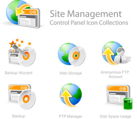 Site Management  4 - Control Panel icon for web design Stock Photo
