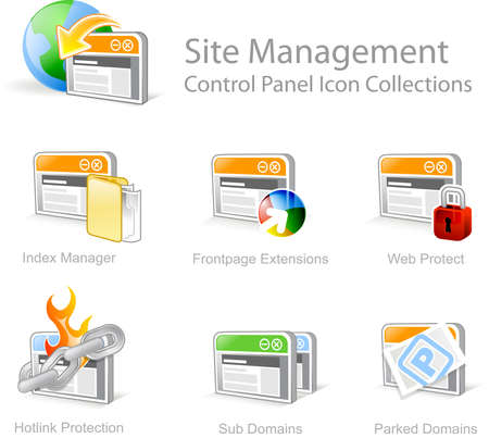 Site Management 3 - Control Panel icon for web design