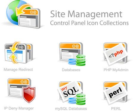 Site Management - Control Panel icon for web design photo