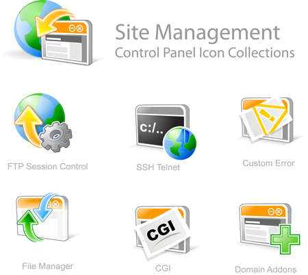Site Management - Control Panel icon for web design