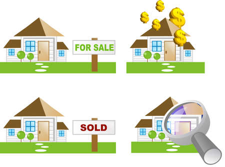 Various house icons (property icon) photo