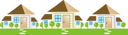 garden path: Housing or real estate icons ( property icon )