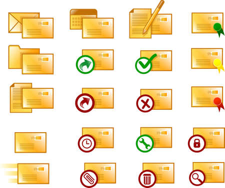 Various clean email icons (orange version) photo