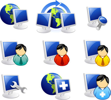 web and internet icon series Stock Photo
