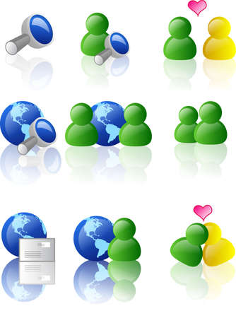 Web and internet icon (color version) photo
