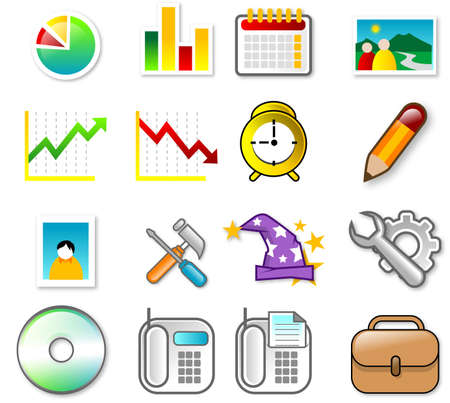 Set of Icon - web and application Stock Photo