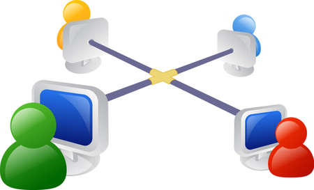 business networking: Business networking icon or illustration Stock Photo