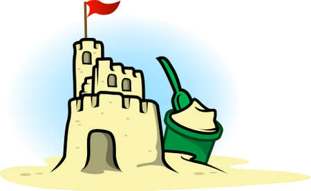 Illustration of a sand castle
