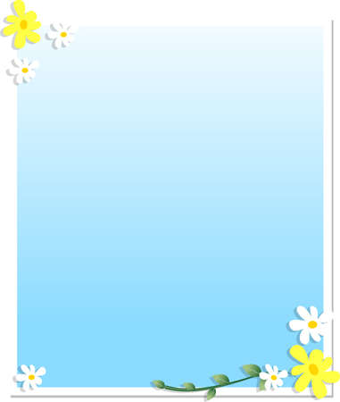Floral Frame isolated over white background Stock Photo