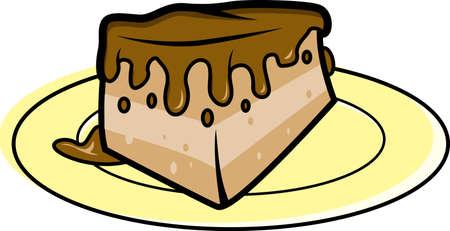 Illustration of Slice of Chocolate cake illustration