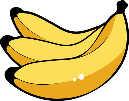 Bananas Illustration - isolated over white background Stock Photo
