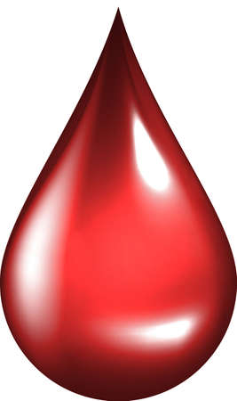 Drop of Blood Vector illustration Stock Illustration - 3236562