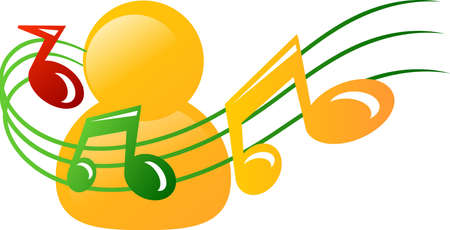 Music man icon Stock Photo