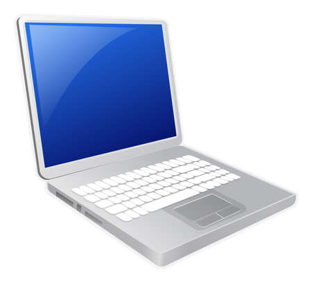 Laptop illustration Stock Photo