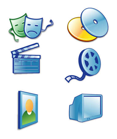 Various entertainment icon - isolated over white background