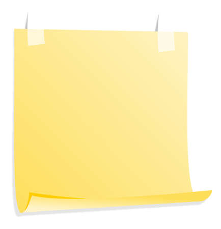 scratch pad: Yellow  posted noted