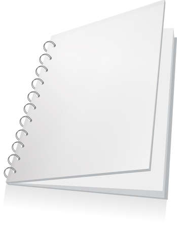 An illustration of a white spiral book - template