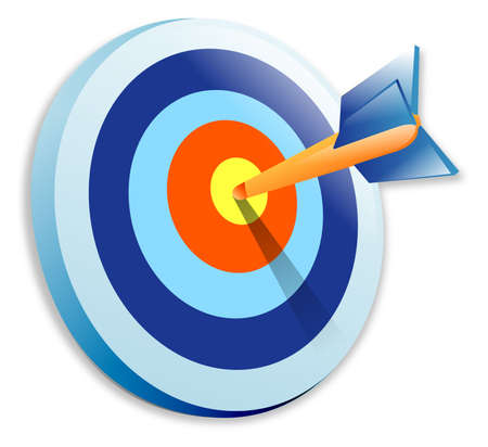projectile: Bullseye Illustration Stock Photo
