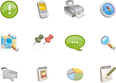 A collection of web and application icons  for web designers. a varico icon set 3