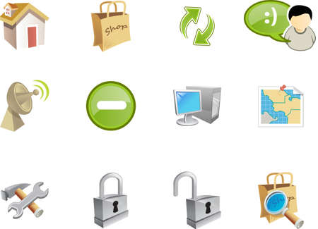 A collection of web and application icons  for web designers. a