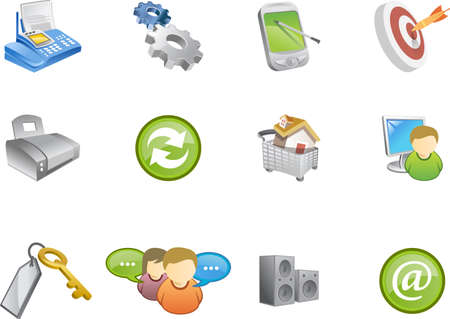 A collection of web and application icons  for web designers. a varico icon set 6