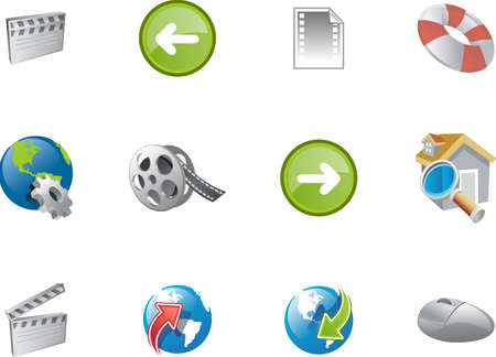 screenplay: A collection of web and application icon  for web designers. a varico icon set 8