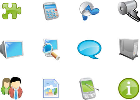 A collection of web and application icons  for web designers. a varico icon set 9 Stock Photo