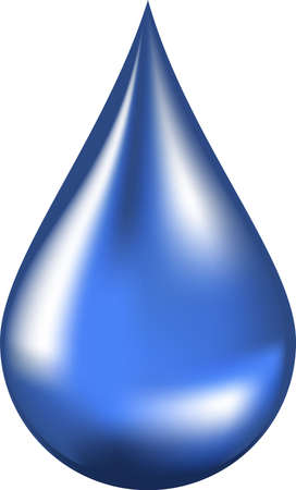 lubricant: Vector illustration of a water drop Stock Photo