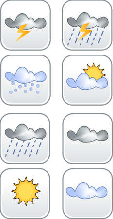 Flat Weather Icon in black color Stock Photo - 3236623