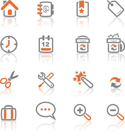 A collection of web and application icons  for web designers. a ireflect icon set