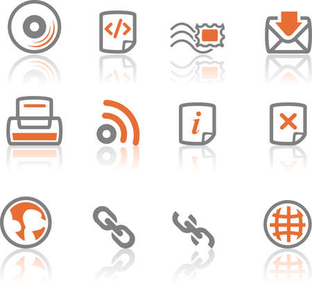 A collection of web and application icon  for web designers. a ireflect icon set 4 photo