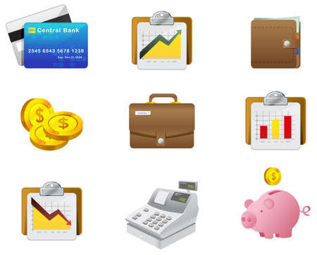 Professional moneyfinance Icon for Website, application and presentation. Set #1. photo