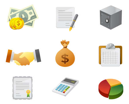 Professional moneyfinance Icon for Website, application and presentation. Set #2. Stock Photo