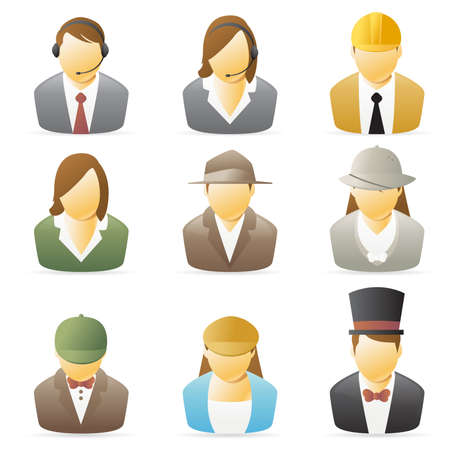 Icons collection representing various people`s occupations. set 2. Stock Photo - 4431450