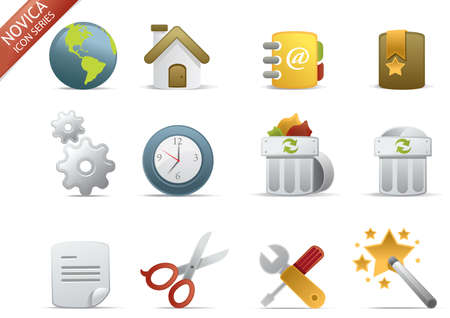 application recycle: Web and Internet Icons for your website, internet, presentation and application project. web 2.0 style, clean and professional see more icons in my portfolio.  - total 7 Set in Novica Icons Series