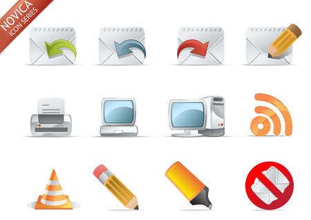 junk mail: Web and Internet Icons for your website, internet, presentation and application project. web 2.0 style, clean and professional. see more icons in my portfolio.  - total 7 Set in Novica Icons Series