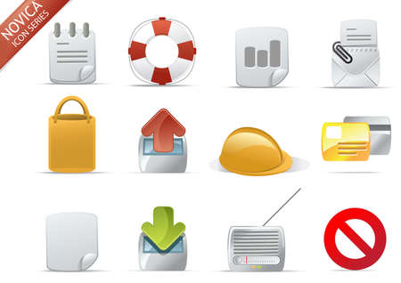 Web and Internet Icons for your website, internet, presentation and application project. web 2.0 style, clean and professional. see more icons in my portfolio.  - total 7 Set in Novica Icons Series photo