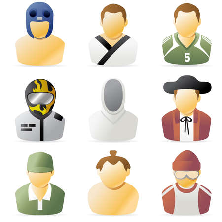 Series of sports people icon 2 photo