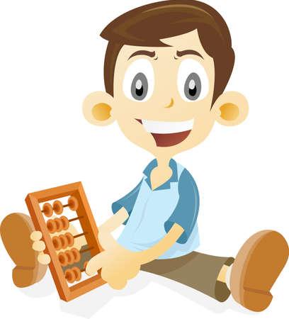 abacus: Kid nauczania matematyki przy pomocy liczydeł Zdjęcie Seryjne