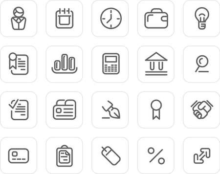 Business icons - plain icon set (black) photo