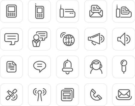 Communication icons - plain icon set (black) photo