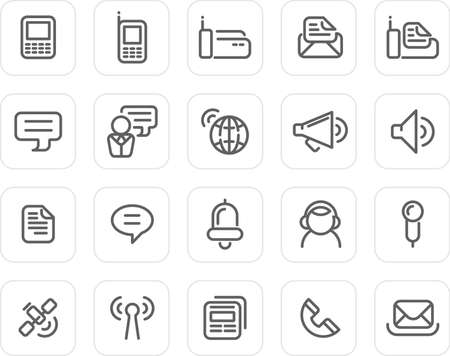 Communication icons - plain icon set (black)