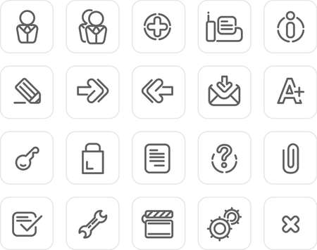 Website and Internet icons - plain icon set (black) photo