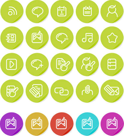 Various icons for internet blog.  Alternate colors included. photo