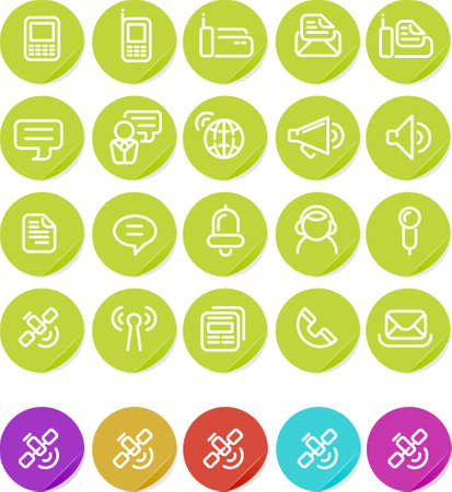 Communication icon set.  Alternate colors included. Stock Photo - 4468516