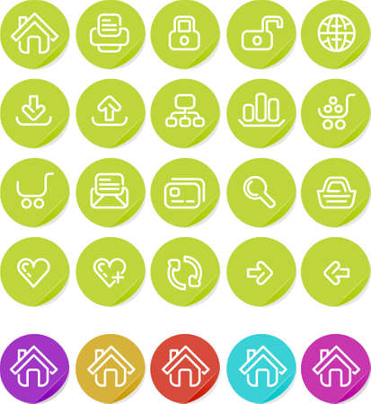 Website and Internet icon set.  Alternate colors included. photo