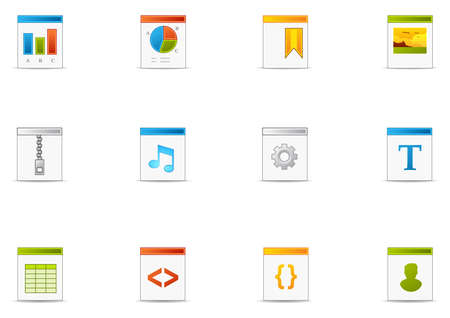 Commonly used FIletype icons. Pixio set #6 Illustration