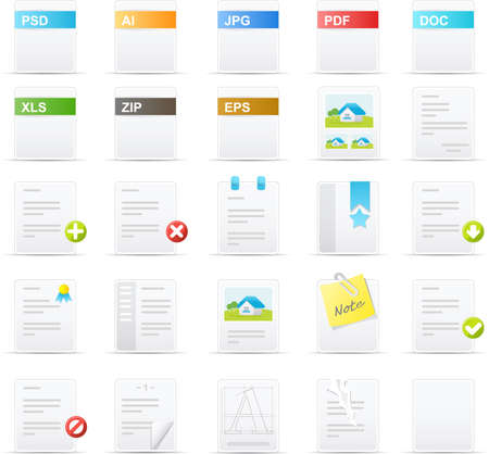 Nouve vector icons. Documents and Applications icon graphics Çizim