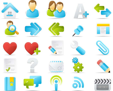 Nouve vector icons. Internet and Blogging icon graphics