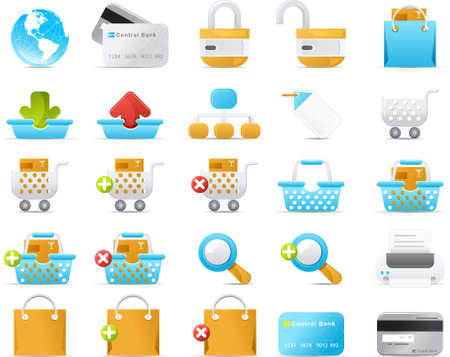 Nouve vector icons. Internet and e-Commerce icon graphics